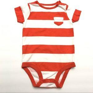 Carter's 0-3M Short-Sleeve Striped Onesie Bodysuit
